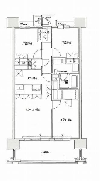 1112号室(Lタイプ) (2)