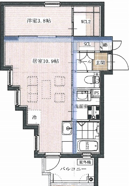 RUKA Aタイプ 間取り(2-5階)