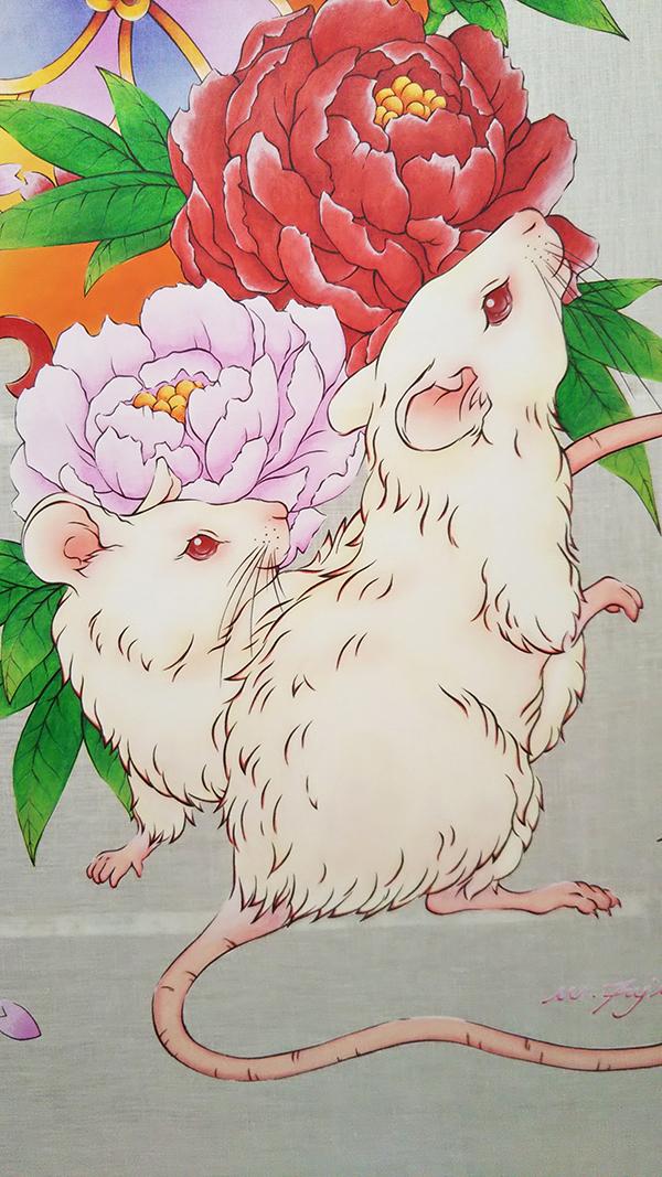 20200228 のれんイラスト 鼠 4