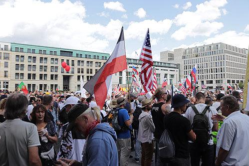 ドイツベルリン・コロナデモ