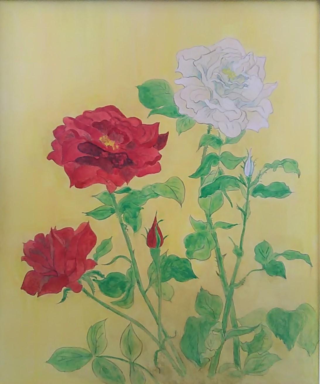 赤バラ白薔薇2