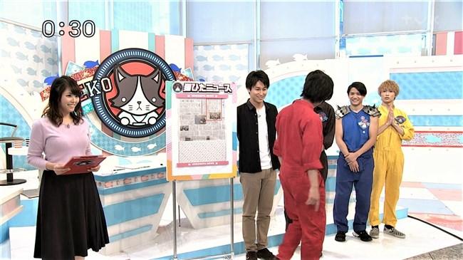 岡村帆奈美~テレビ神奈川の巨乳姫が薄紫のニット服でエロ過ぎる胸元を強調!0005shikogin
