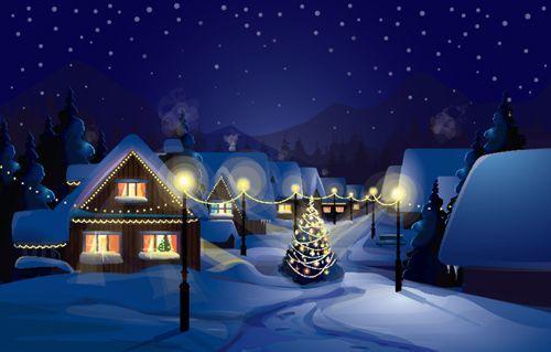 クリスマス風景画