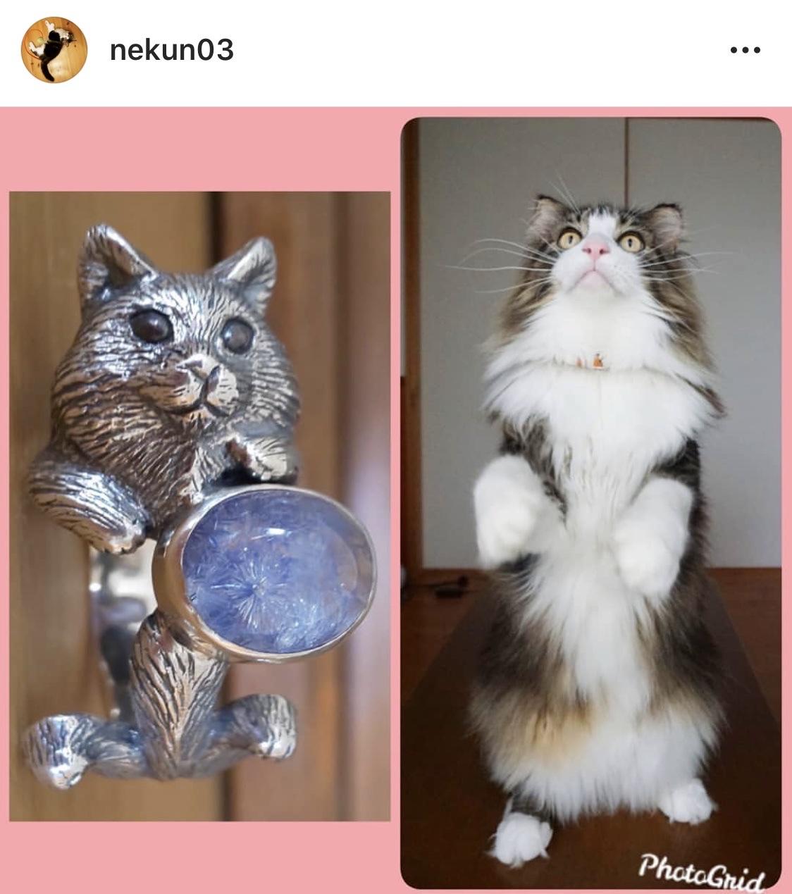オーダー☆デュモ猫リング