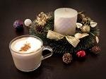飲み物-クリスマスのカフェオレ