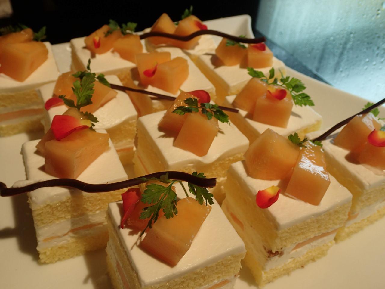 レッドメロンショートケーキ