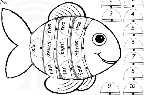 English numbers fish