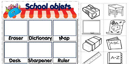 school objects shop