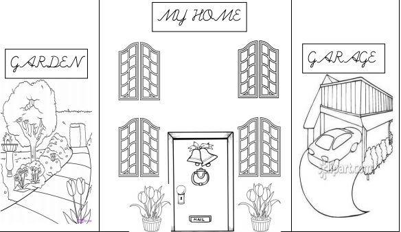 英語部屋、家具の名前学習プリントmy home craft