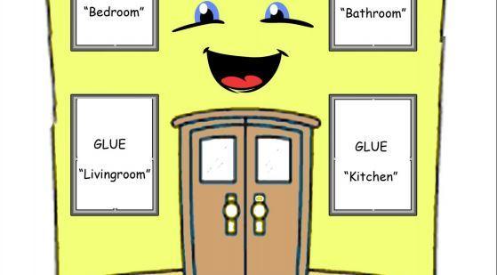 英語部屋、家具の名前学習プリントmy home furniture craft2