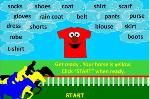 clothes power point game