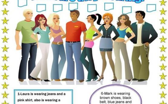 clothes worksheet3