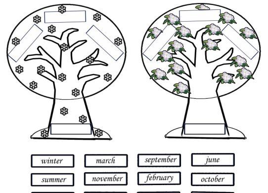 seasons and months trees