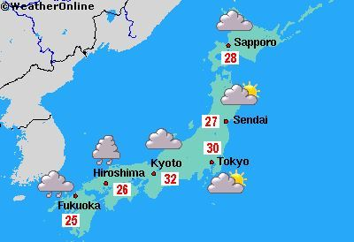 weather map of japan