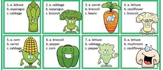野菜果物英語学習プリントfruit and vegetable worksheet6