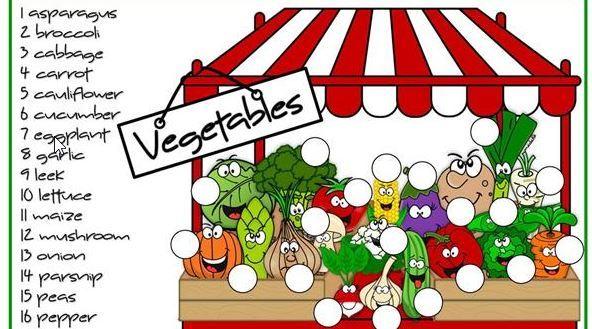 野菜果物英語名ワークシートfruit and vegetable worksheet 3