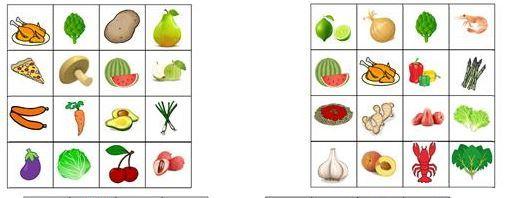 fruit bingo cards