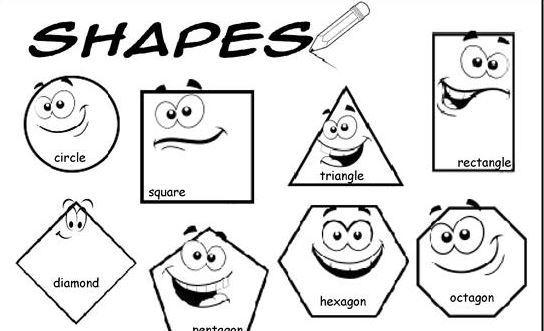 図形の名前英語プリントshapes worksheet2