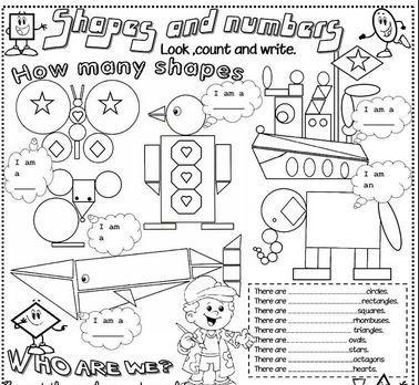 英語図形の名前学習プリントshapes worksheet5
