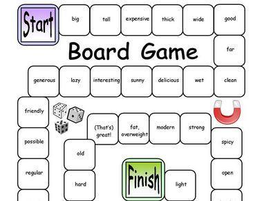 opposite words board games