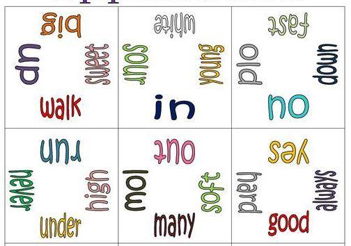 英語対義語英単語パズル台紙opposite words puzzle2