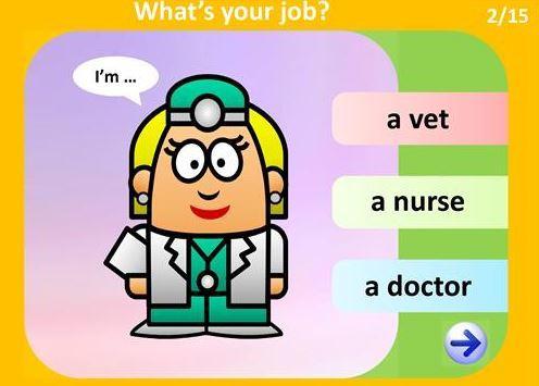 仕事の名前を表す英語パワーポイント教材jobs ppt3