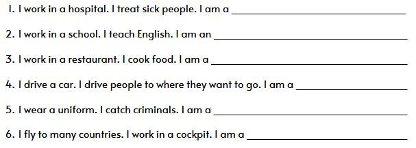 who am i worksheet4