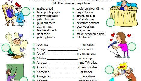 job present simple worksheet1