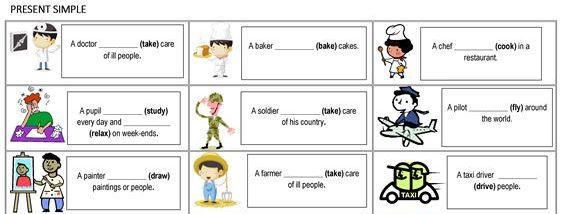 jobs present simple worksheet2