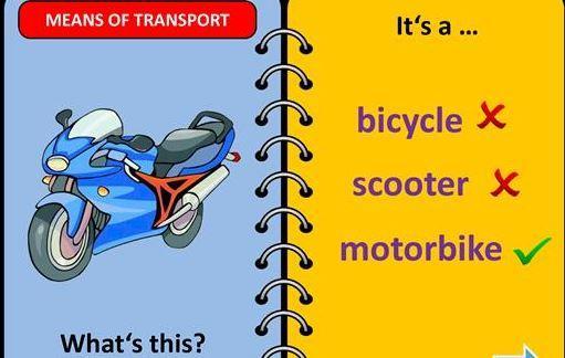 英語乗り物の名前テスト用パワーポイント教材transportation power point4