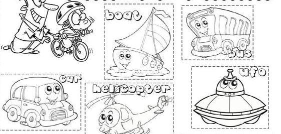 transportation worksheet1 for kids