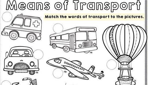 transportation worksheet3 for kids