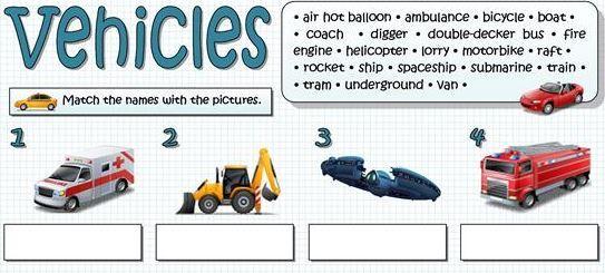 transportation worksheet6 for kids
