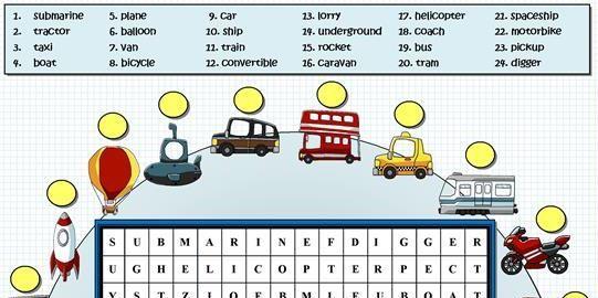 transportation worksheet8 for kids
