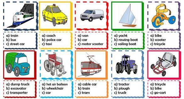 transportation worksheet9 for kids