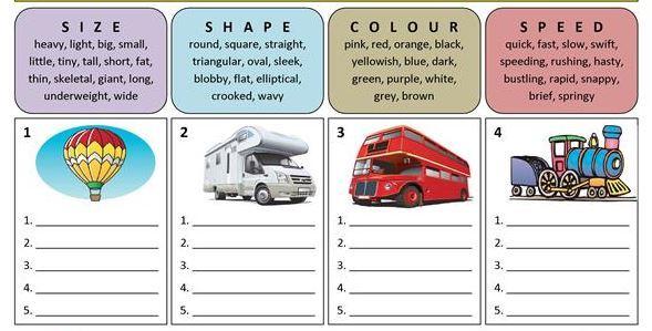 transportation worksheet12 for kids