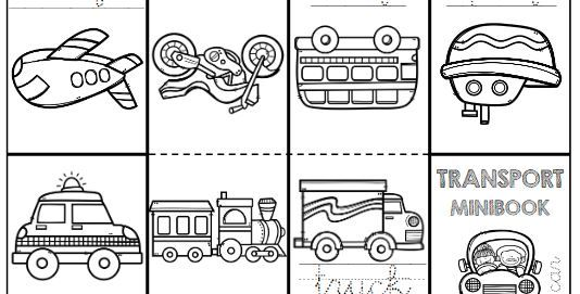 transportation minibook worksheet