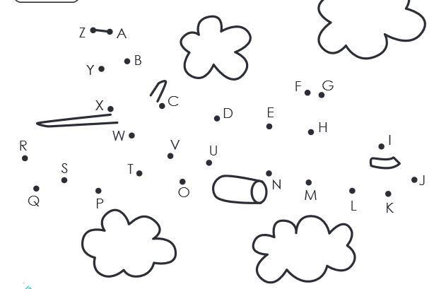 無料アルファベット点つなぎワークシートthe alphabet dot to dot worksheet1