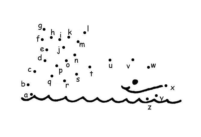 無料アルファベット点つなぎワークシート the alphabet dot to dot worksheet3