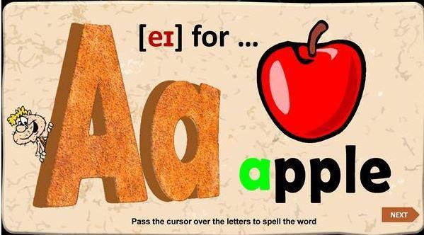 英語アルファベット発音付き教材 the alphabet power point2