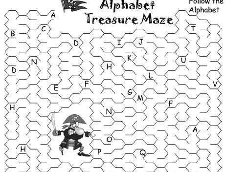英語アルファベット迷路 the alphabet maze6