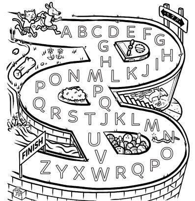英語アルファベット迷路 the alphabet maze1
