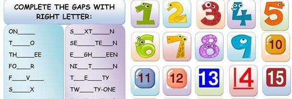 英語30までの数字学習プリントnumbers till 30 worksheet1