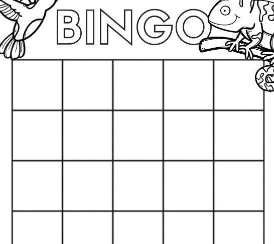 無料ビンゴカード空欄blank bingo card