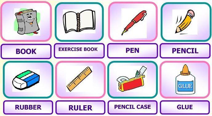 小学生用英語文房具英単語一覧school objects pics