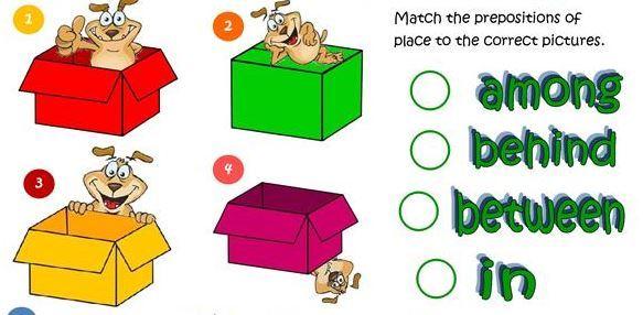 イラスト付き場所を表す前置詞学習プリント prepositions of place worksheet3