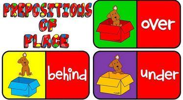 場所を表す前置詞ドミノゲーム prepositions of place domino-game