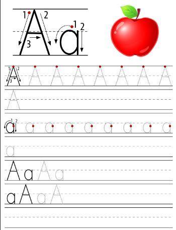 アルファベット練習用学習プリントthe alphabet letterAa