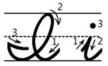 アルファベットIi筆記体書き方書き順 cursive alphabetI