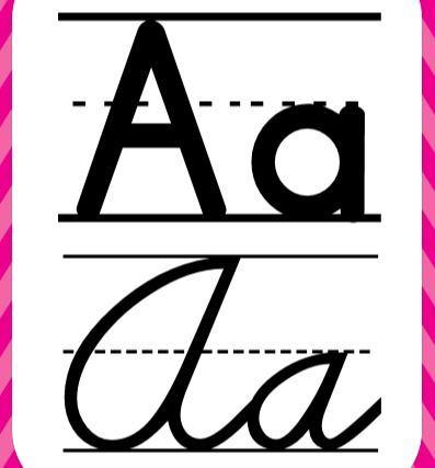 アルファベット教室掲示用カードcursive alphabet for classroom2